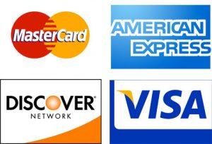 MasterCard - American Express - Discover - VISA